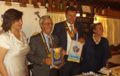 Il governatore Marcialis e il presidente Ugolini con le signore Flavia e Lorena